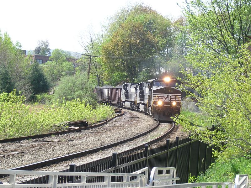 Greenfield, MA - - - May, 2004 - - This shot is number 2 of 3 train is a little closer.