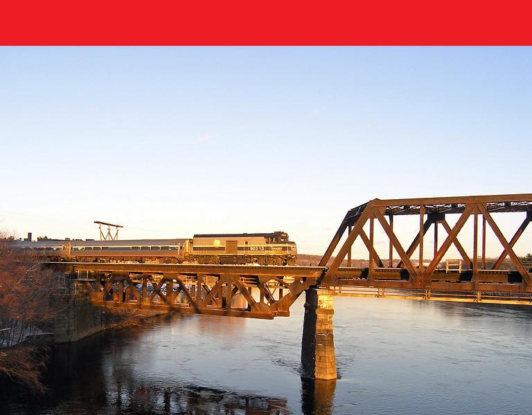 Merrimack River Bridge Amtral Cab Baggage Unit 90213