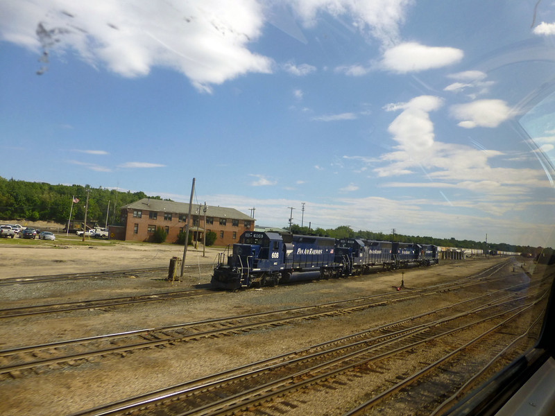 Rigby Yard 4 Pan Am Engines shot from dome of Downeaster