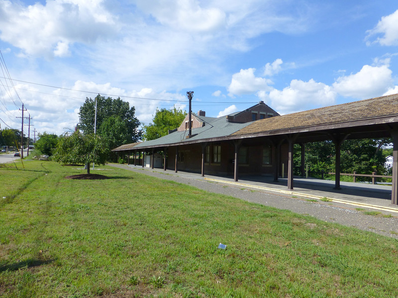 Methuen, Massachusetts - Former Boston and Maine RR depot on the abandoned Manchester and Lawrence Branch - Rails have been removed but work to turn the right of way into a trail is not yet complete.