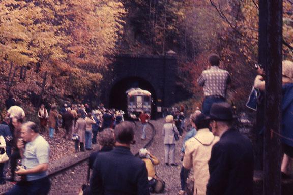 East Portal of Hoosac Tunnel with an RDC fan trip