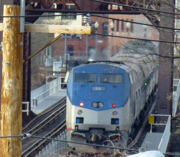 Merrimack River Bridge Train 685 with Engine 94 Trailing