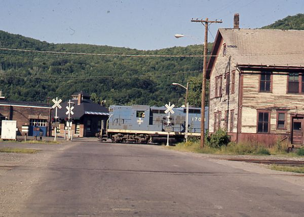 Bellows Falls, VT when the old B&M Freight House was still standing
