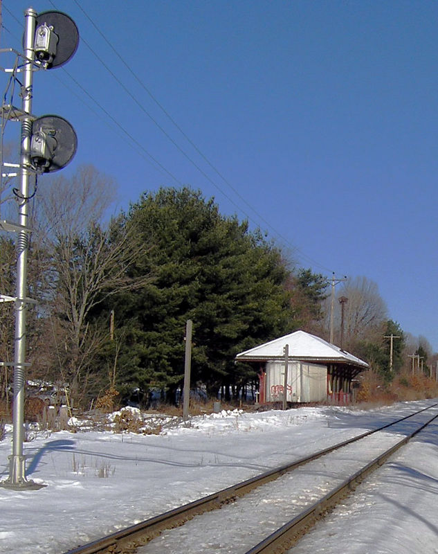 Former Boston and Maine RR Depot at Plaistow, NH on the Portland Division. -   January, 2006