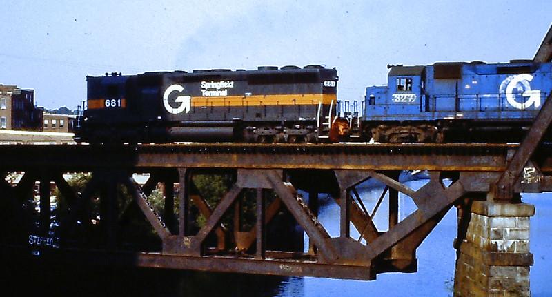 Haverhill, Mass. - Merrimack River Bridge Springfield Terminal Engine Number 681