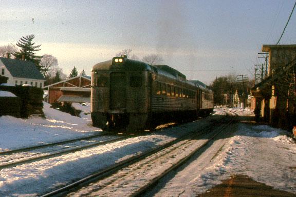 Concord, MA  Depot with RDC train