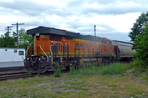 Ayer MA BNSF Engine Number 7000