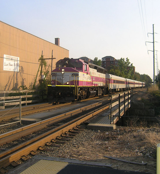 9/17/2006 - Train 2165 approaching Beverly Depot.  - Beverly, MA is on the former Boston and Maine RR Portand Division Eastern Route Main Line