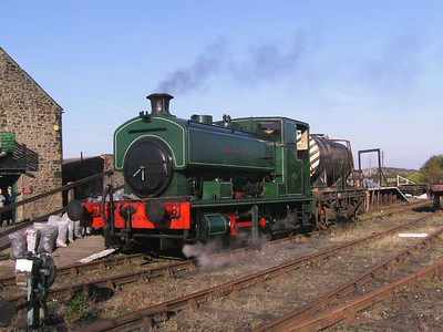 Andrew Barclay 2361/1954 W S T (William Steuart Trimble) seen at the platform with an NCB gas oil tanker