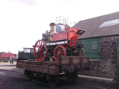 Another visitor was this ancient fire engine from York