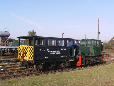 Here is 101 again, with a cut down brake van from the NCB's Harton system