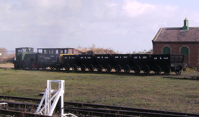 101 marshalling the chaldrons with a brake van