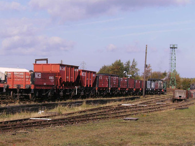 The coal train consisted of many types of wagon, as can be seen here