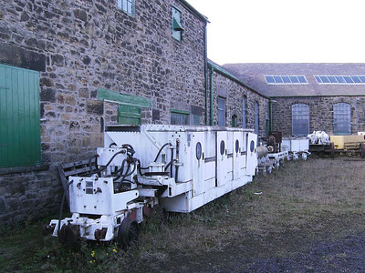 Miscellaneous underground equipment in the yard, mostly of 2 ft 6 in gauge