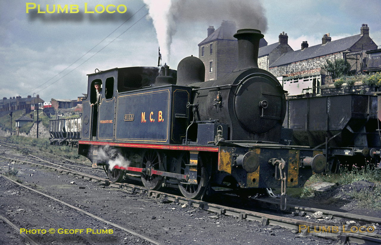 "Barclay 0-6-0T ""Will"" No. 999/1904 shunts in the yard at Wearmouth Colliery in Sunderland on Tuesday 3rd August 1965. This was one of the last pits in the area, not closing until 1994. Slide No. 1541."