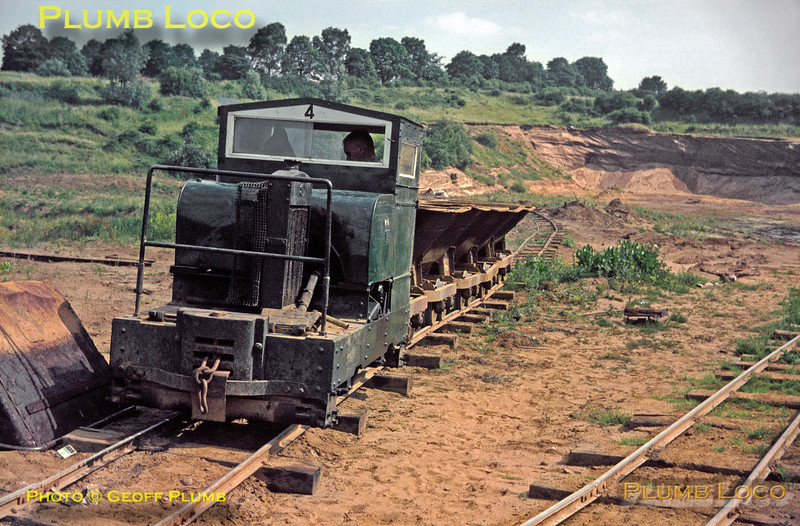Simplex No. 4, Leighton Buzzard Light Railway, 1st July 1967