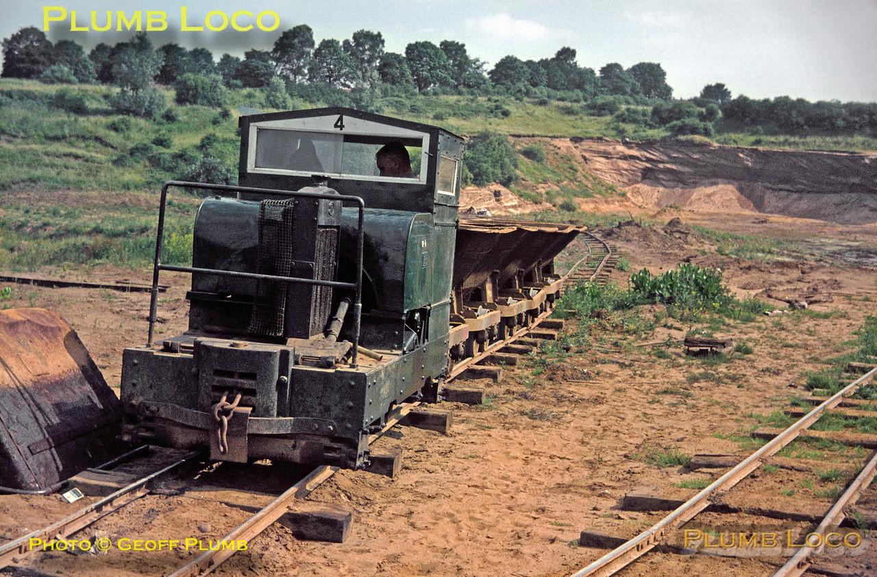 Simplex No. 4, Leighton Buzzard Light Railway, 1st July 1967