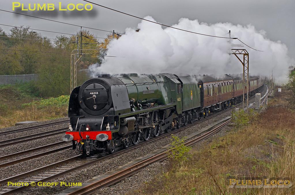 "46233 ""Duchess of Sutherland"", Old Linslade, 1Z32, 22nd November 2014"
