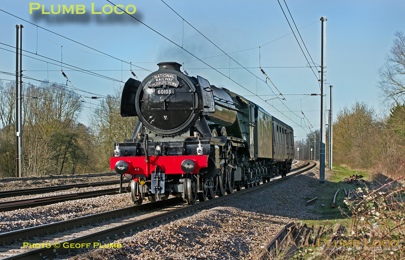 "60103 ""Flying Scotsman"", Arlesey, 5Z44, 24th February 2016"