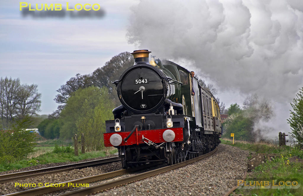 """5043 """"Earl of Mount Edgcumbe"""", King's Sutton, 1Z36, 12th April 2014"""
