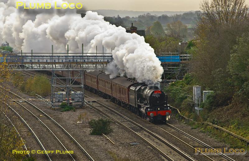 "46115 ""Scots Guardsman"", Oakley, 1Z46, 9th November 2014"