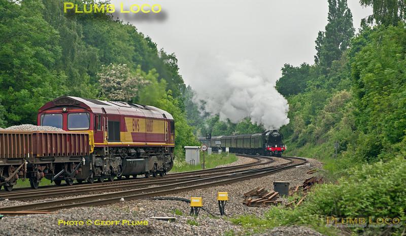 66187 & 60103, Southcote Junction, 28th May 2016