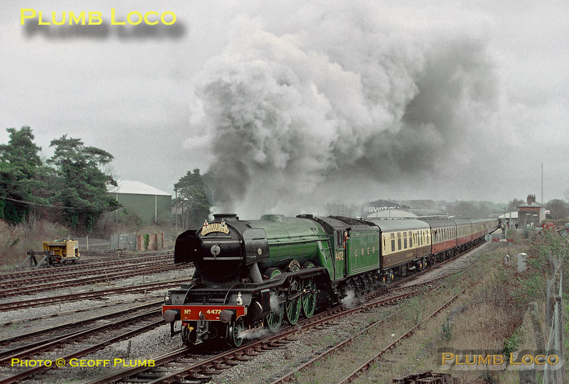 """4472 """"Flying Scotsman"""", Andover Station, 31st March 2001"""