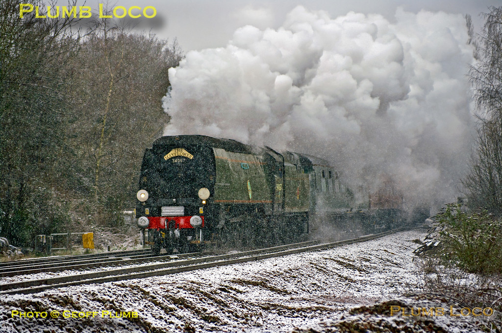 """34067 """"Tangmere"""", Southcote Junction, 1Z46, 23rd March 2013"""