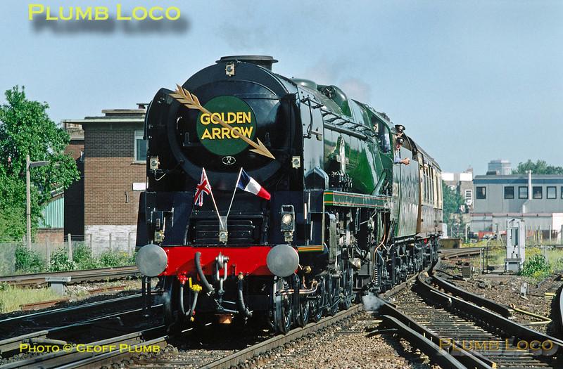 "35028 ""Clan Line"", HerneHill, VSOE, 9th June 1996"