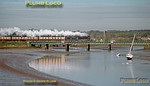 "LNER B1 class 4-6-0 No. 61264 has just passed Manningtree station and is crossing the bridge over the River Stour as it works from Liverpool Street to Norwich with 1Z21, ""The Easterling"" at 10:03 on the very cold morning of Saturday 10th November 2001. Once at Norwich the loco was to runround the train and work tenderfirst to Lowestoft, but unfortunately it was failed with a hot box at Norwich and the rest of the tour was worked by 67024... Slide No. 29212."
