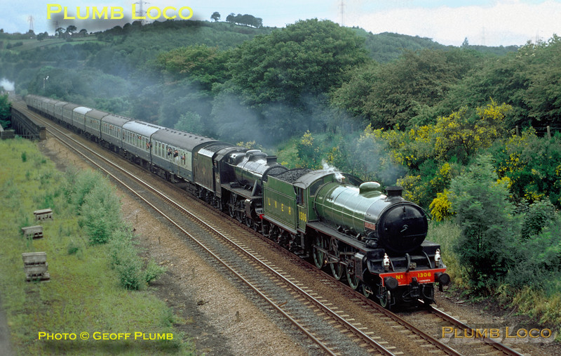 1306 & 45407, Apperley Viaduct, 19th June 1976
