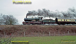 "GWR ""City"" class 4-4-0 No. 3440 ""City of Truro"" seen at speed near Old Milverton on the line from Leamington Spa to Coventry with 1Z52, a ""round the houses"" excursion from Tyseley to Birmingham Snow Hill, Stratford-upon-Avon, Leamington Spa, Coventry, Nuneaton and back to Tyseley. 14:53, Wednesday 29th December 2004. Slide No. 33235."