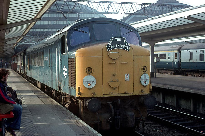 44004 Manchester Piccadilly on 'Peak Express' Railtour 15th Oct 1977