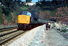 46002 Parsons Tunnel on 0920 Liverpool-Penzance 4th April 1980