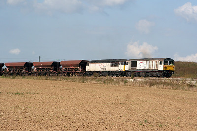3) 58 021 & 56 103 entering Ocquerre construction base on 25th August 2006