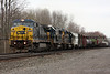 CSX manifest passes through Centerport, NY with an ex-conrail C40-8W now repainted.