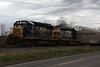 CSX Q279 auto rack passes the signal at Kirkville, NY