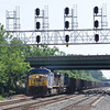 5/30/11<br /> St Denis Marc Station<br /> E722-29<br /> Westbound<br /> Coal Empties<br /> Old Main Line<br /> No. 43 – 464