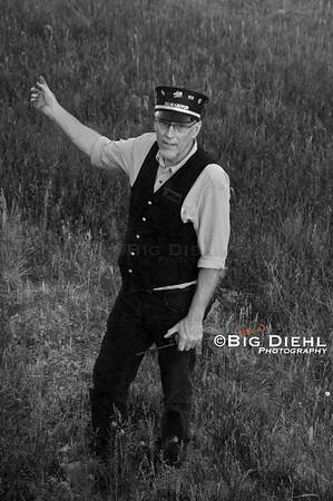 Conductor Alan Loomis relays instructions to his brakeman. ©2010 William Diehl