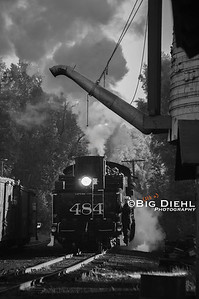 484 backs past the water tank in the Chama, New Mexico yard.