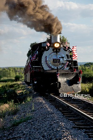 Cumbres & Toltec locomotive #488 sits on the main just outside of Chama. ©2010 William Diehl