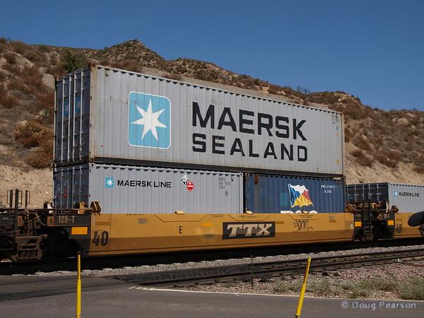 Container train in Cajon pass.