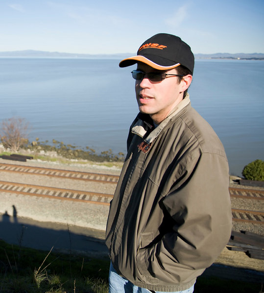 Yes, this is me at my favorite local train watching location, Pinole. Photo courtesy of Jimmy Song.