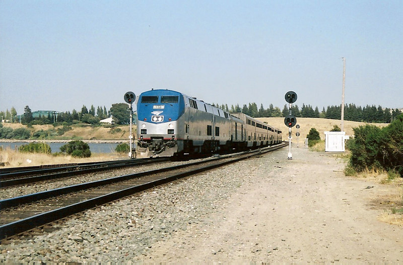 The Coast Starlight passes through Hercules at 3:30 pm, about 8 hours late. 8/12/06