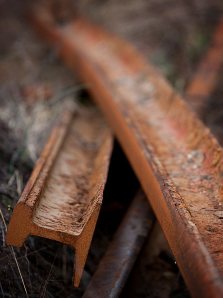 Rails rusting in Whitnel, NC.