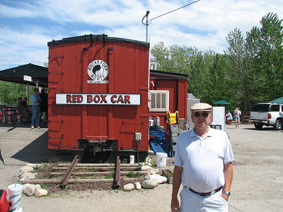 Ran into this MRL retiree at Red Lodge Mike worked in the Roundhouse