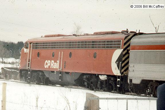CP RAIL Engine 1800 on fan trip to Wells River, VT March 23, 1974