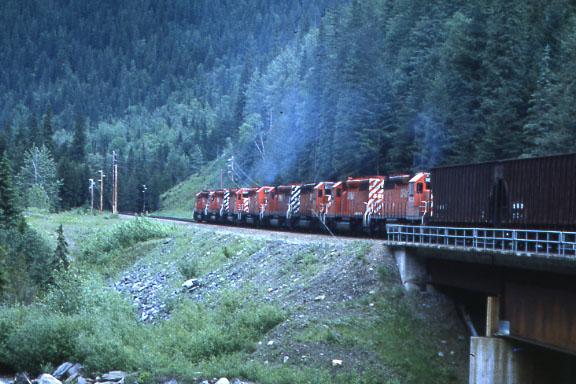 CP Coal Train 8 Diesels