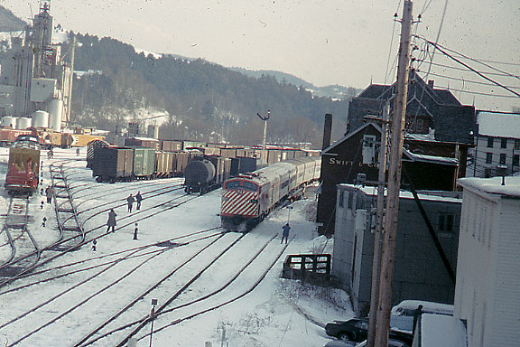 3/23/1974 CP Fan Trip at St. Johnsbury, VT. Engine is E8 number 1800.