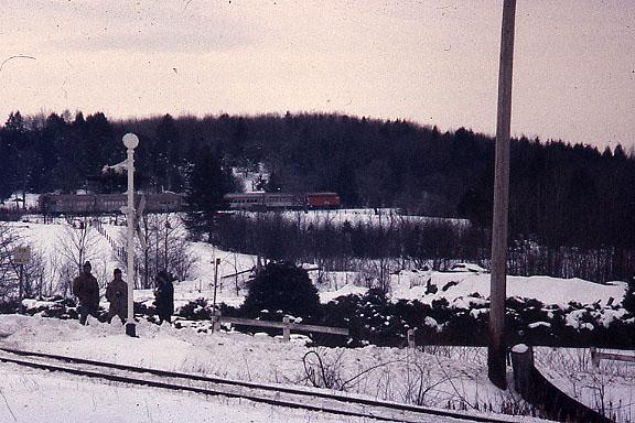 CP 1974 Fan trip rear view of train